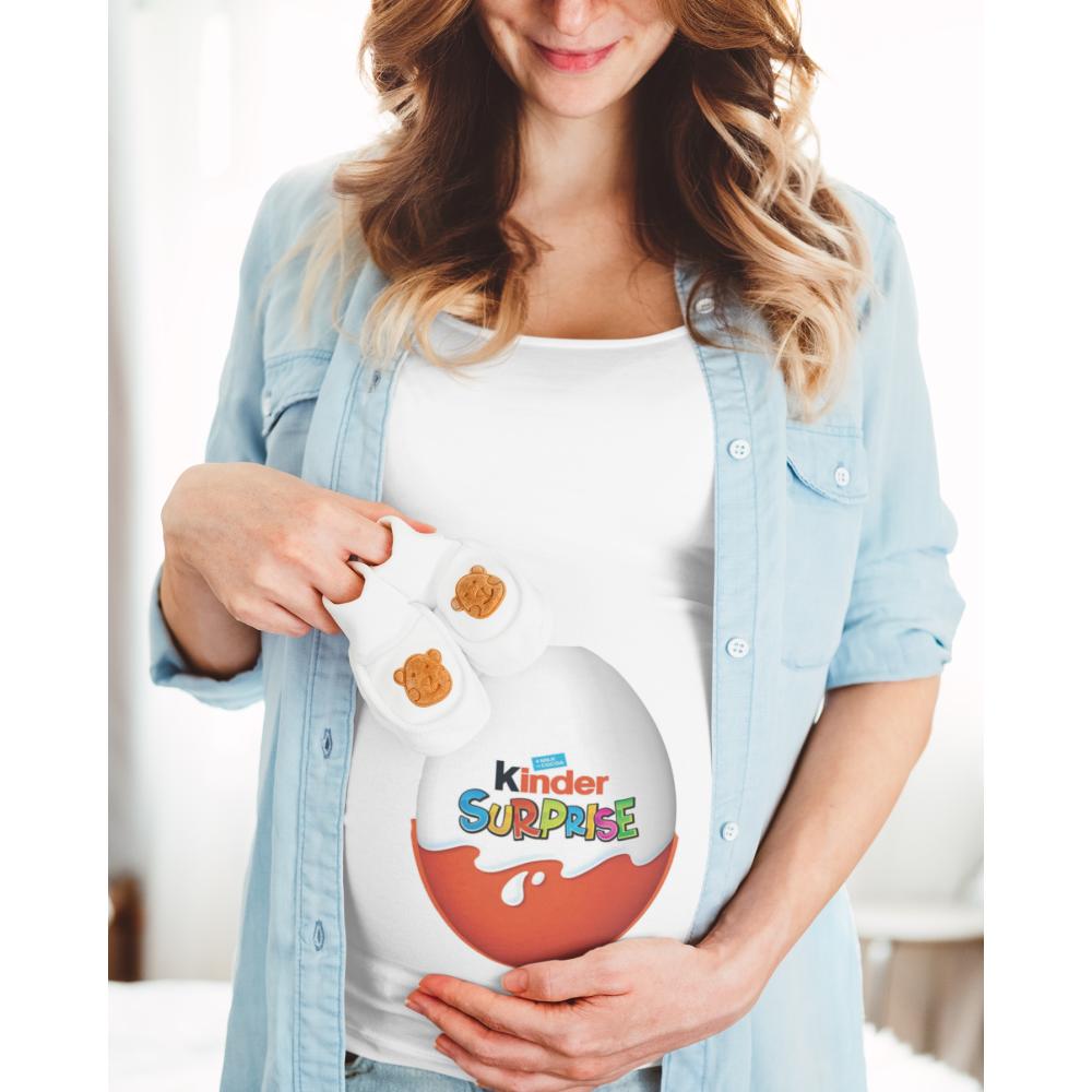 Ženska bijela majica Kinder Surprise Egg