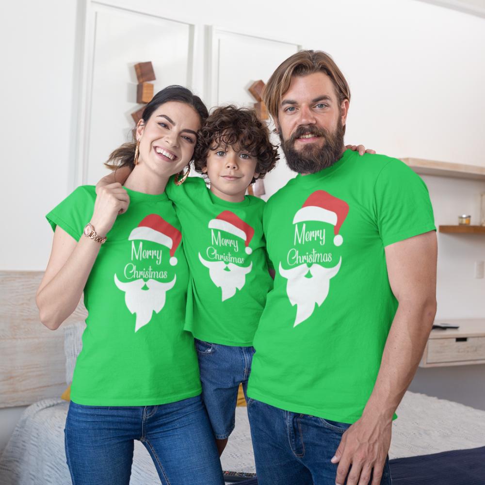 Božićni obiteljski set u zelenoj boji Merry Christmas Beard