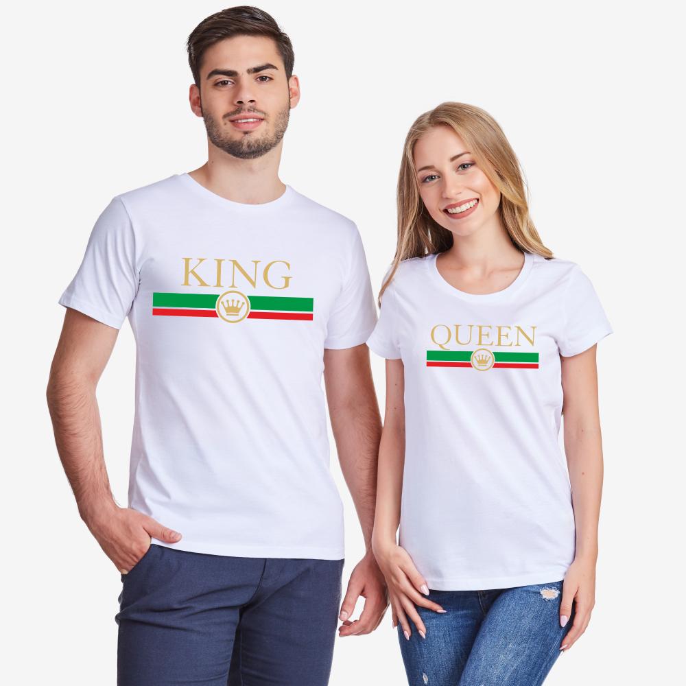 Set bijelih majica za parove King - Queen RG