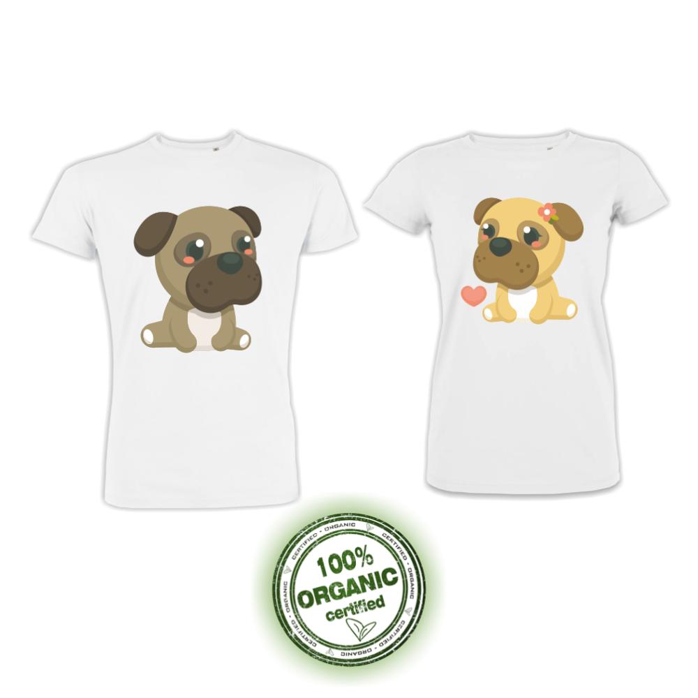 Set bijelih majica za zaljubljene Dogs