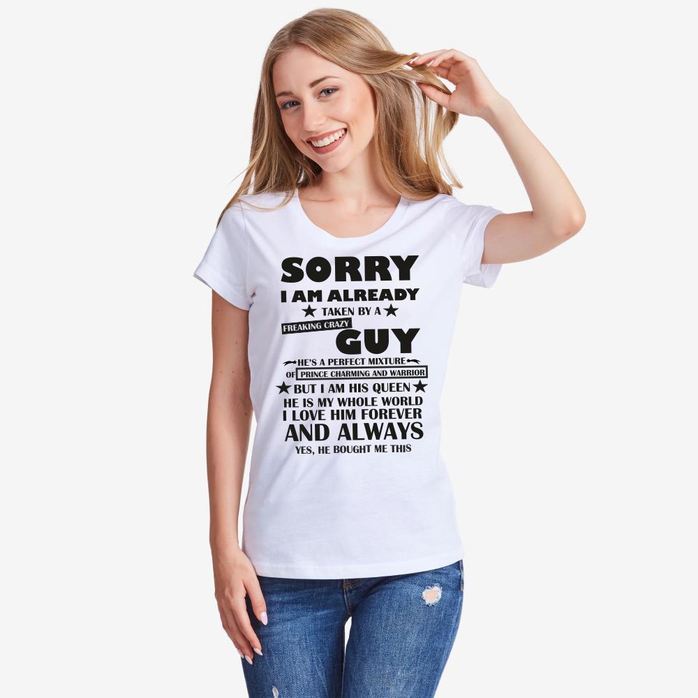 Ženska bijela majica Sorry