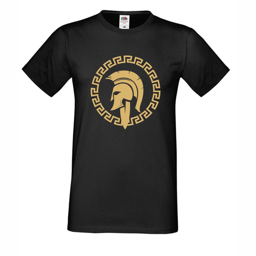 Muška crna majica Spartan