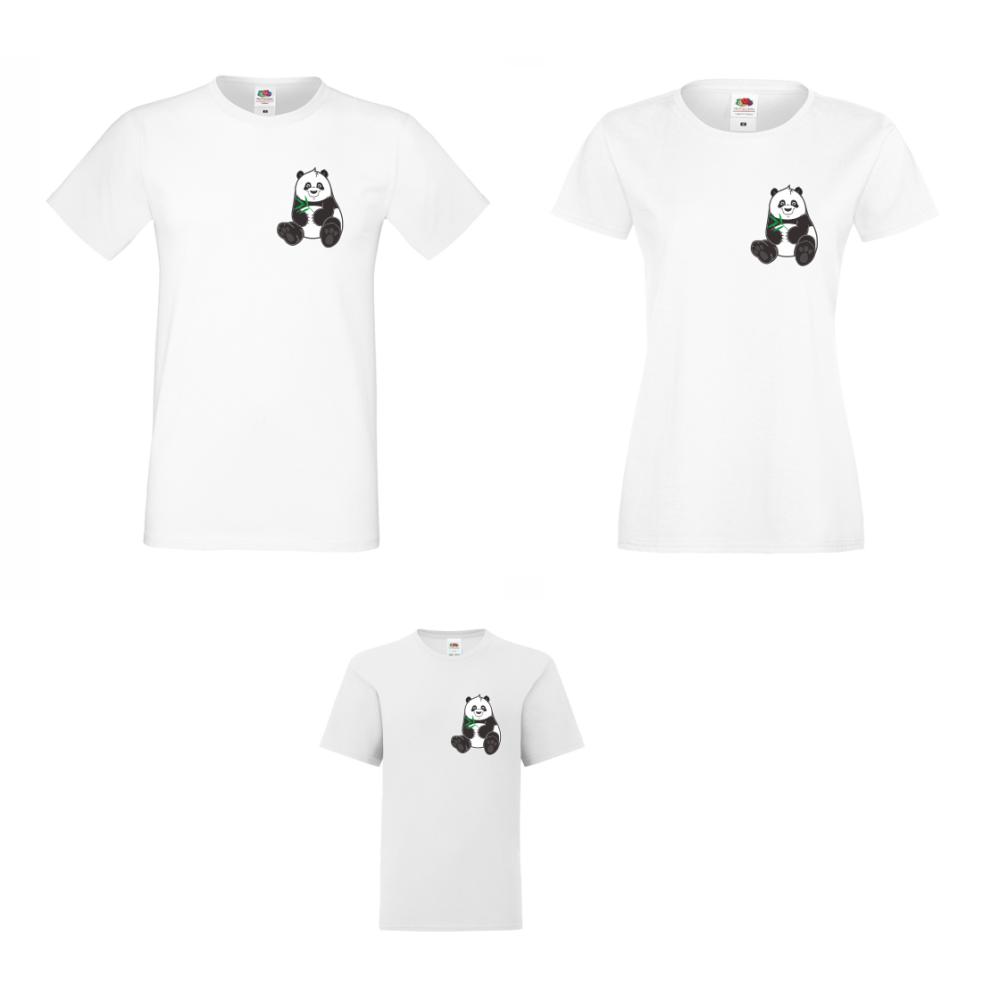 Obiteljski set majica Pocket Pandas