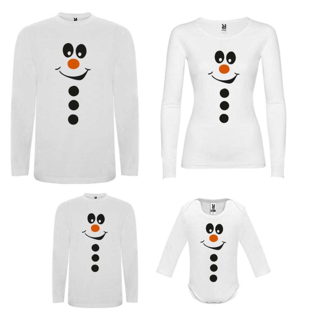 Obiteljski set majica dugih rukava u bijeloj boji Smiling Showman