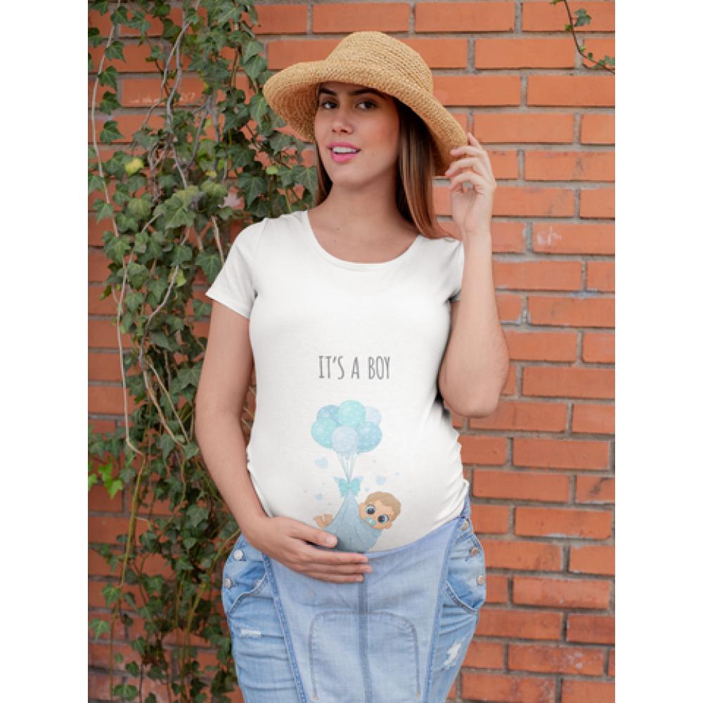 Ženska bijela majica It's a boy