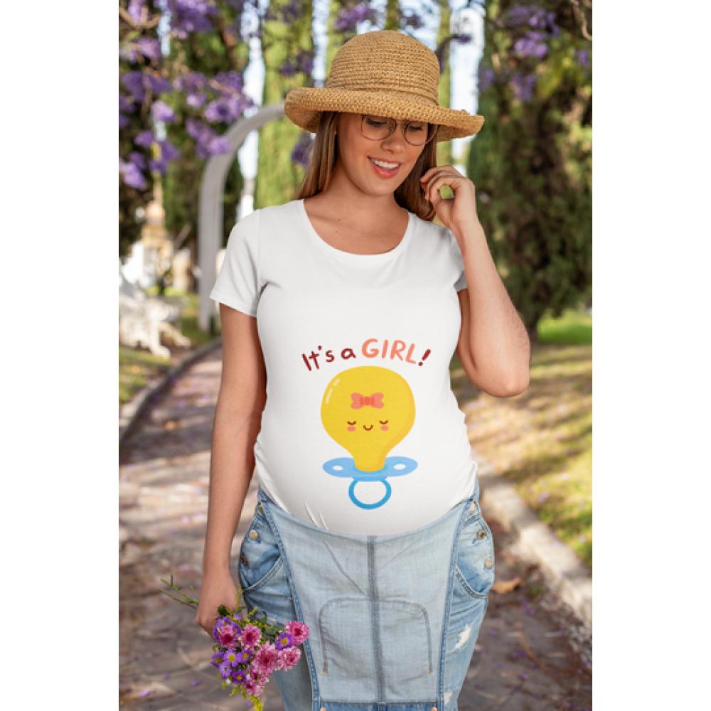 Ženska bijela majica Pacifier Girl