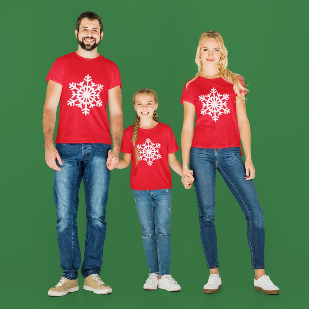 Božićni obiteljski set  u crvenoj boji SnowFlake