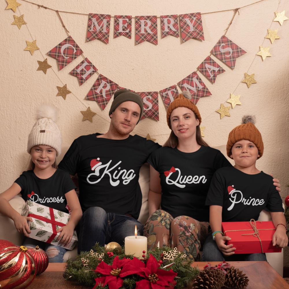 Božićni obiteljski set u crnoj boji Christmas Royal Family