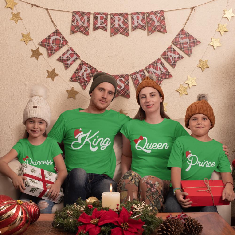 Božićni obiteljski set u zelenoj boji  Christmas Royal Family