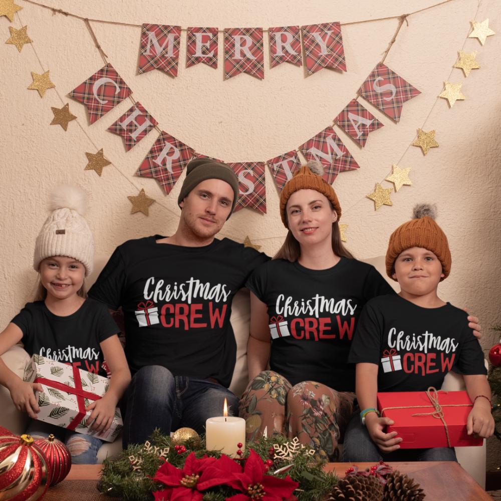 Božićni obiteljski set u crnoj boji Christmas Present