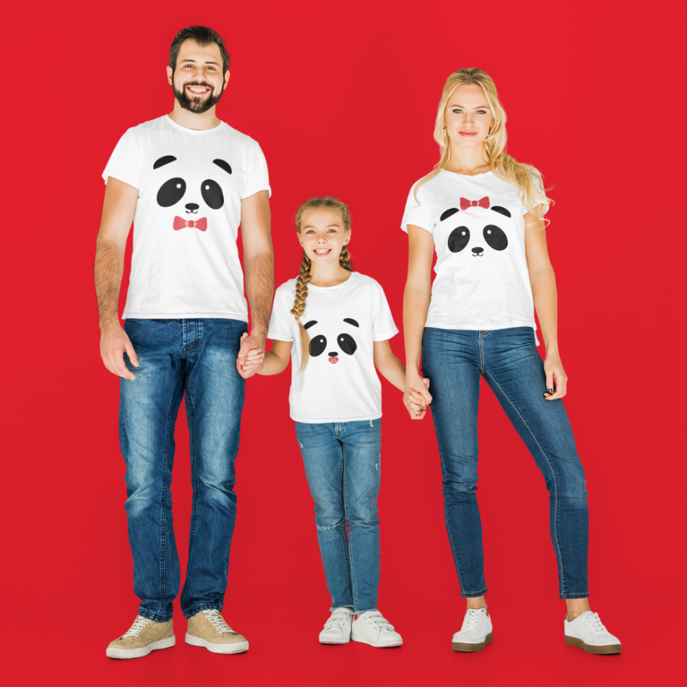 Оbiteljski set u bijeloj boji Panda