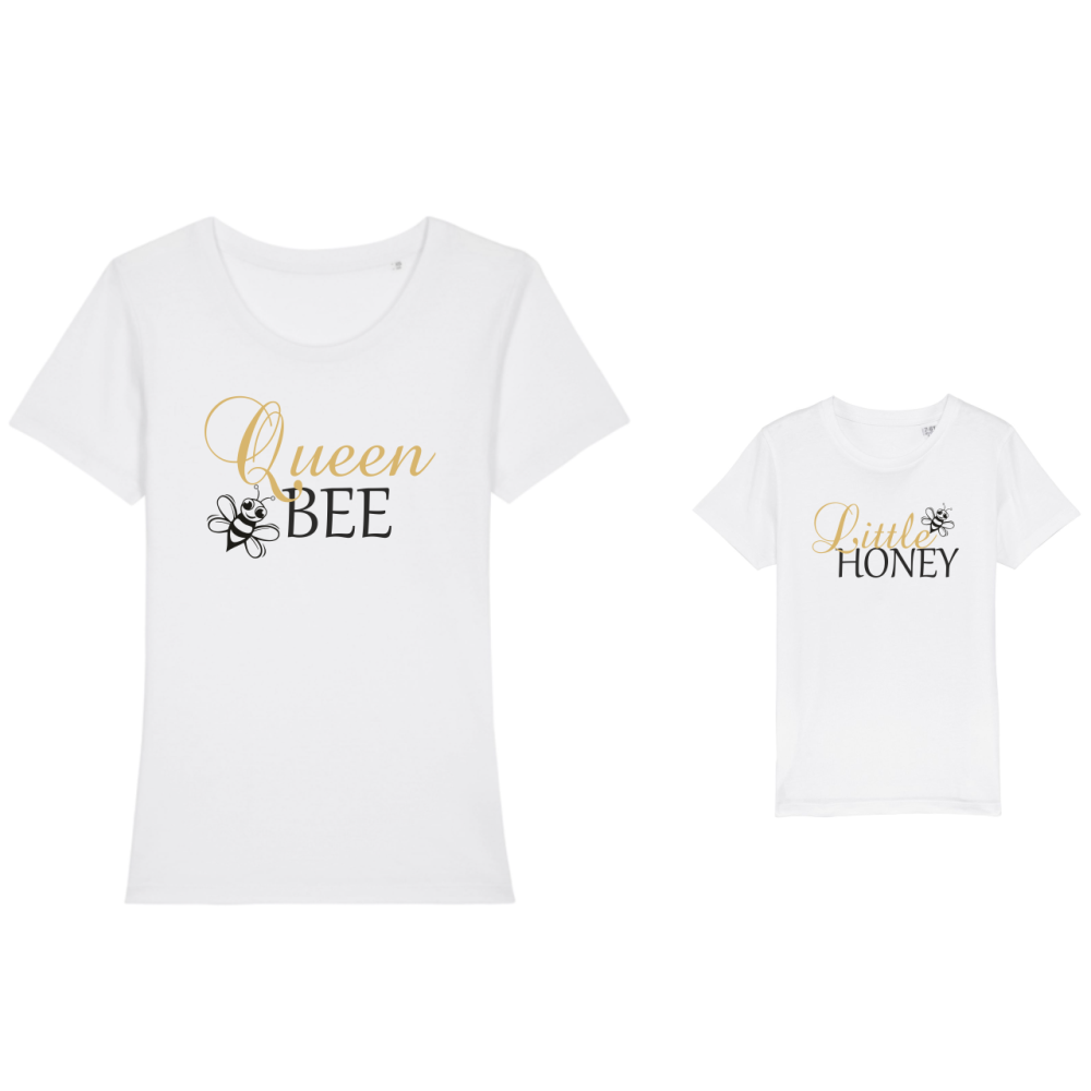 Majice za majku i dijete Bee Queen