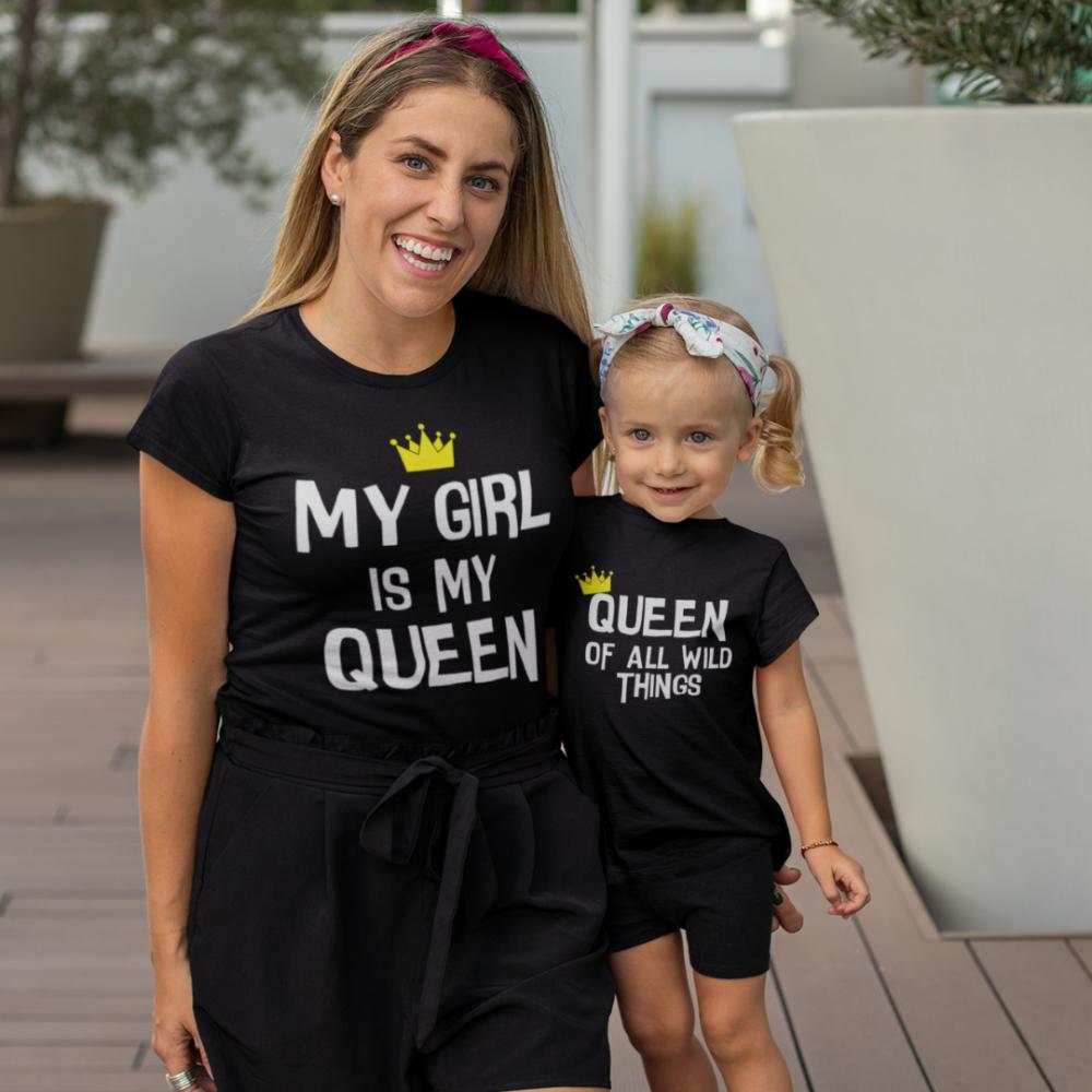 Majice za majku i kćer My Girl Is My Queen