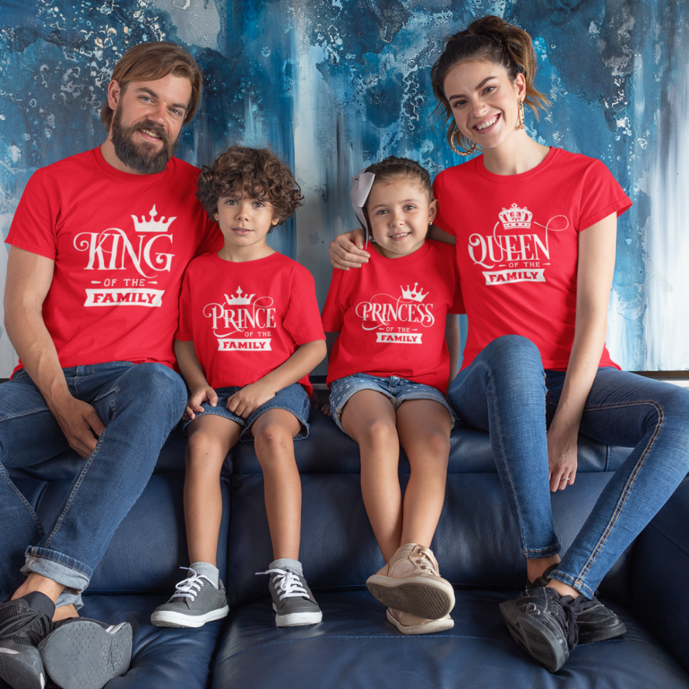Obiteljske majice u crvenoj boji  Royal Family