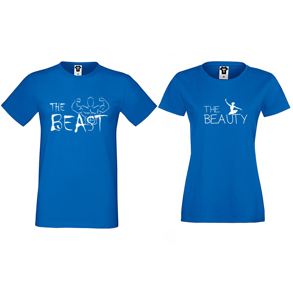 Majice za parove The Beast and The Beauty