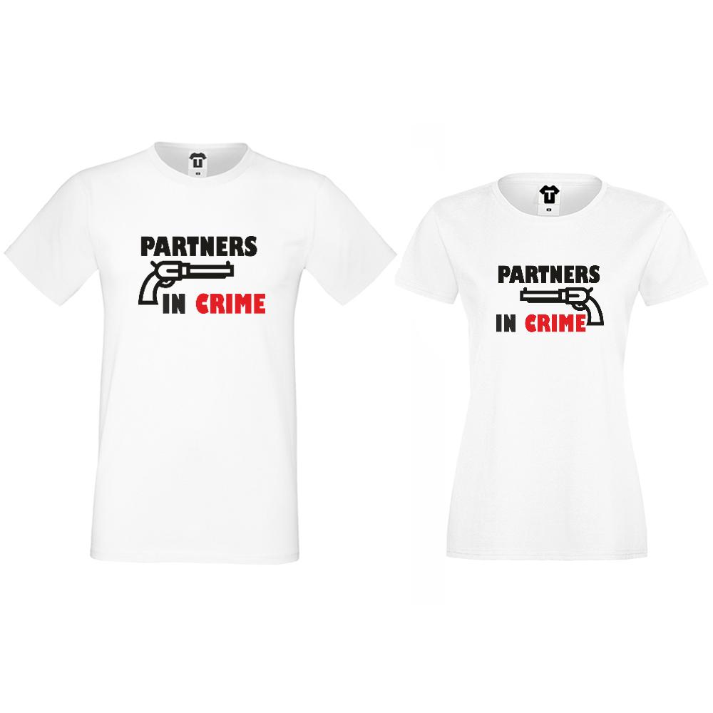 Majice za parove Partners in Crime