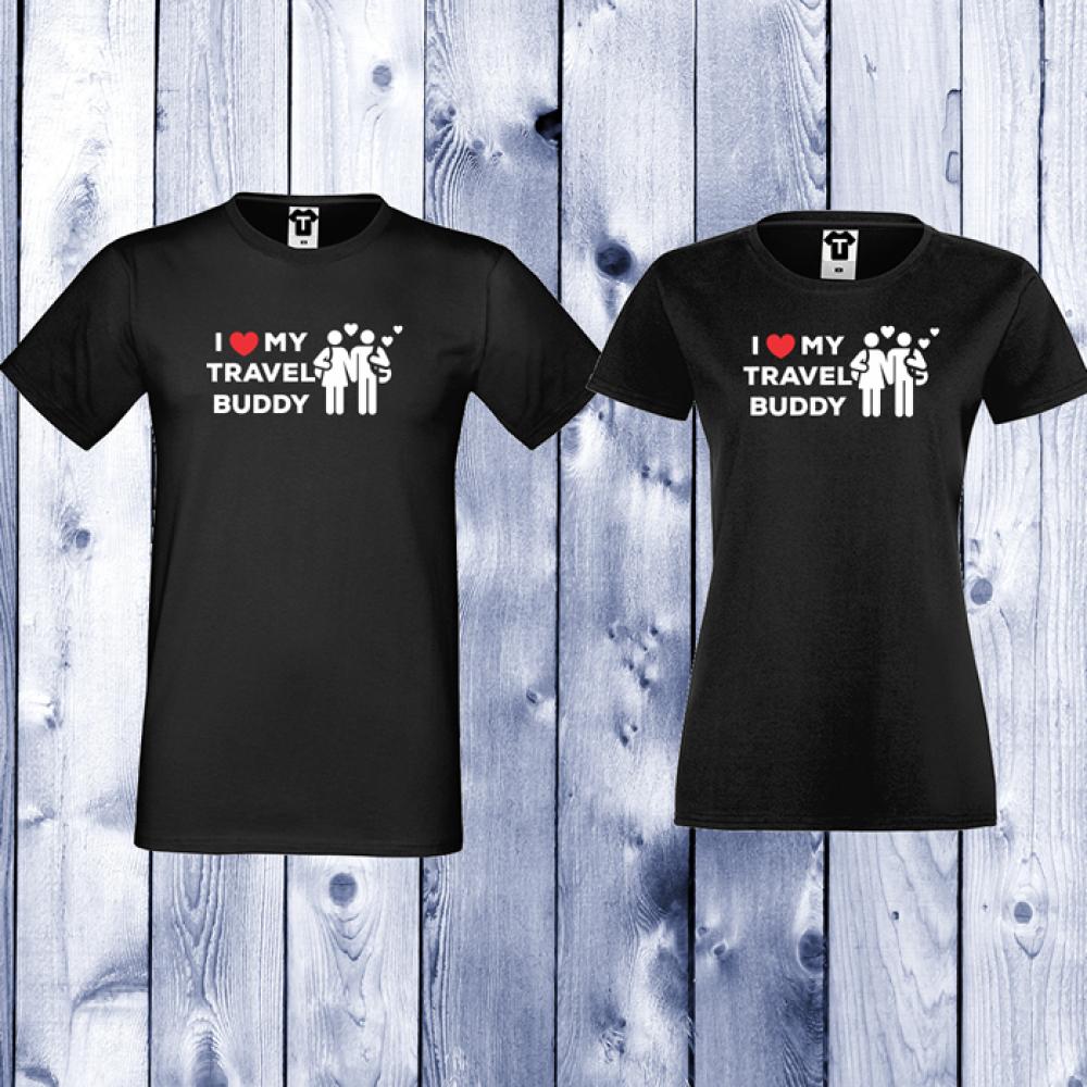 Majice za zaljubljene Travel Buddy