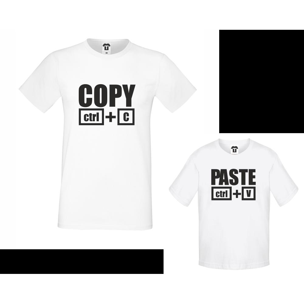 Set muška majica i dječja majica Copy - Paste