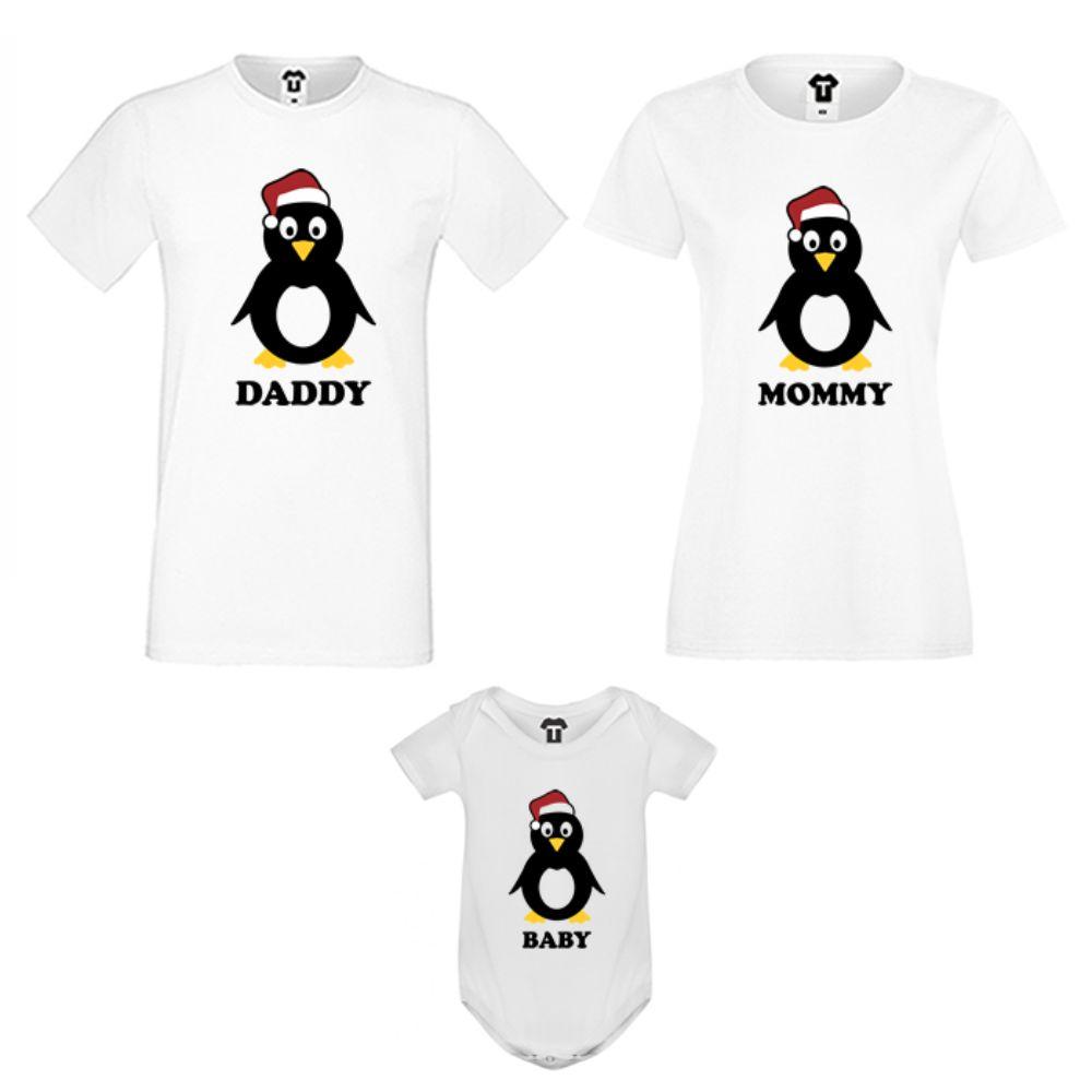 Obiteljski komplet u bijeloj boji Penguin Family