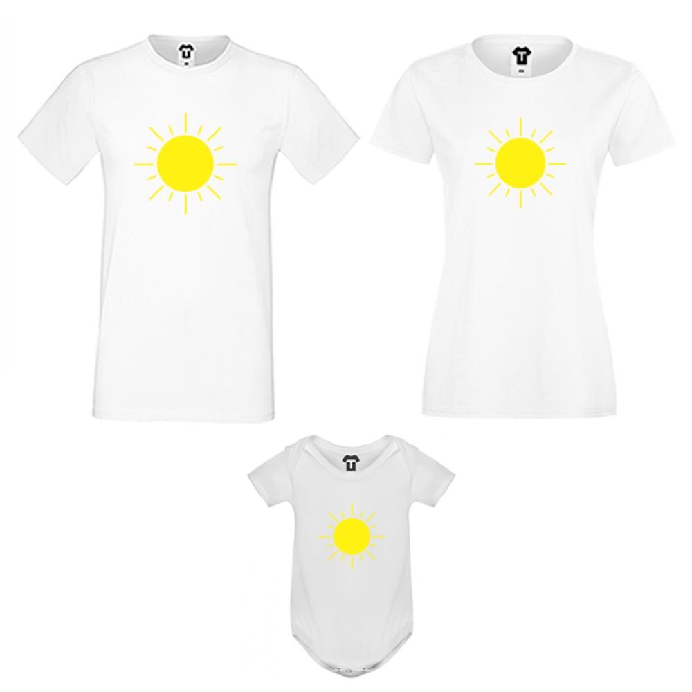 Obiteljski komplet u bijeloj ili crnoj boji Sun Family