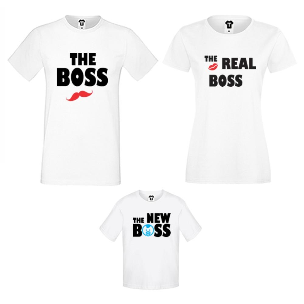 Obiteljski set u crnoj ili bijeloj boji The Boss, The Real Boss and The New Boss Boy