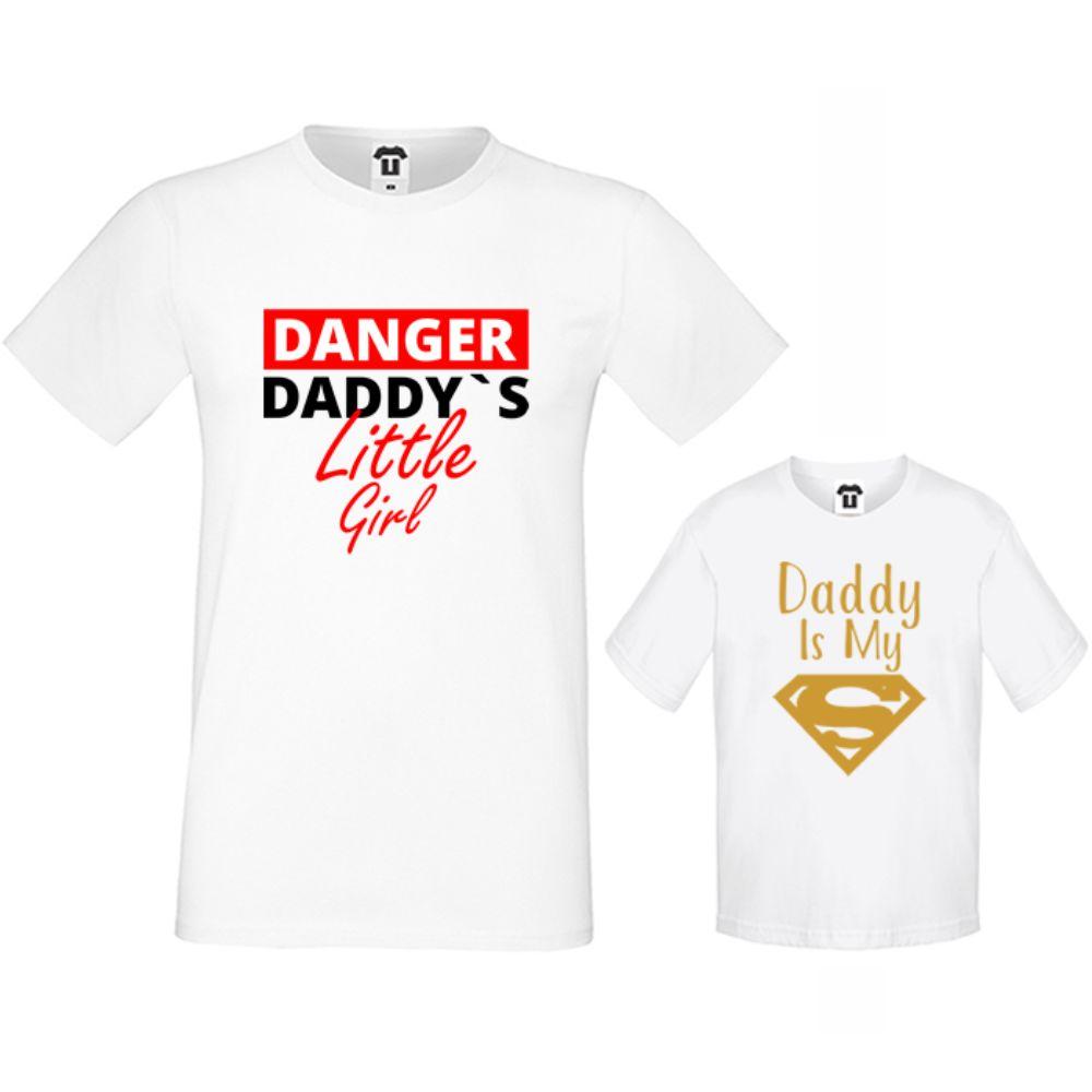 Set muška i dječja majica u crnoj ili bijeloj boji Daddy's little girl