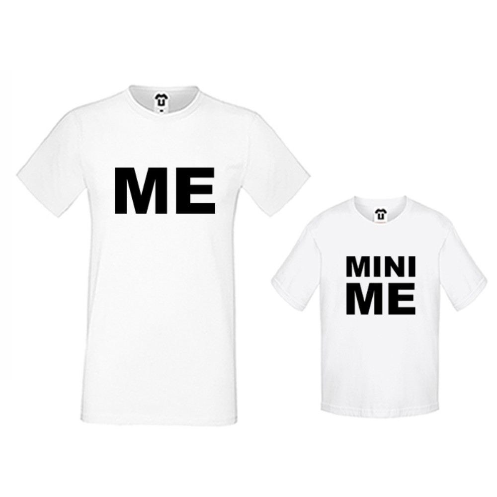 Set muška i dječja majica u crnoj ili bijeloj boji Me and Mini Me