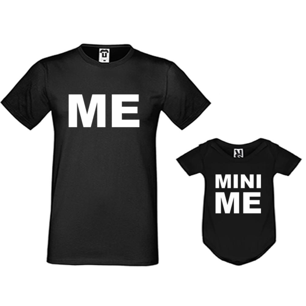 Set u crnoj ili bijeloj boji - muška majica i dječji body Me and Mini Me