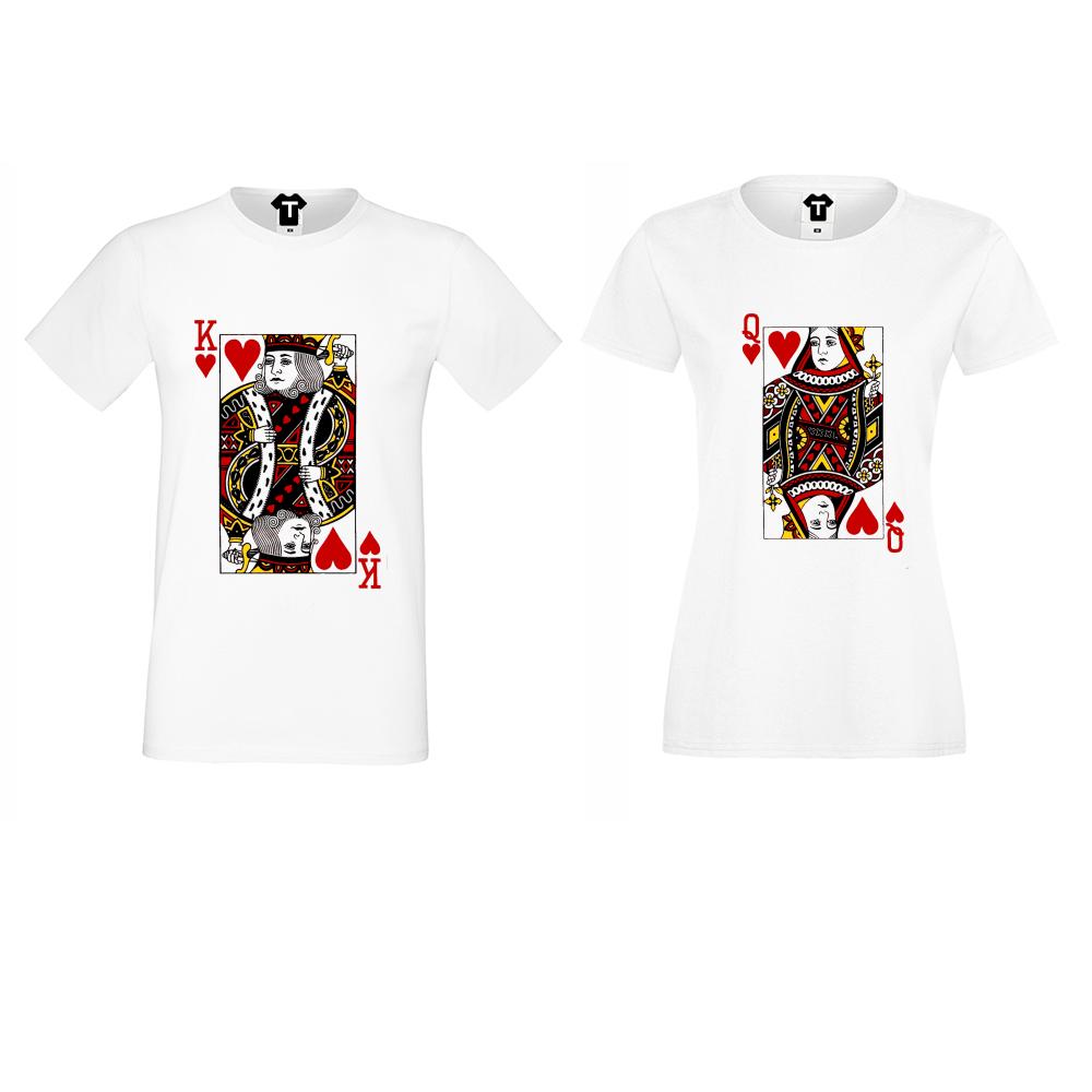 Majice za zaljubljene King Queen Cards