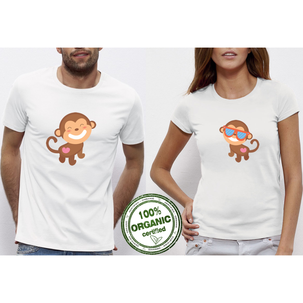 Majice za zaljubljene Monkey in Love