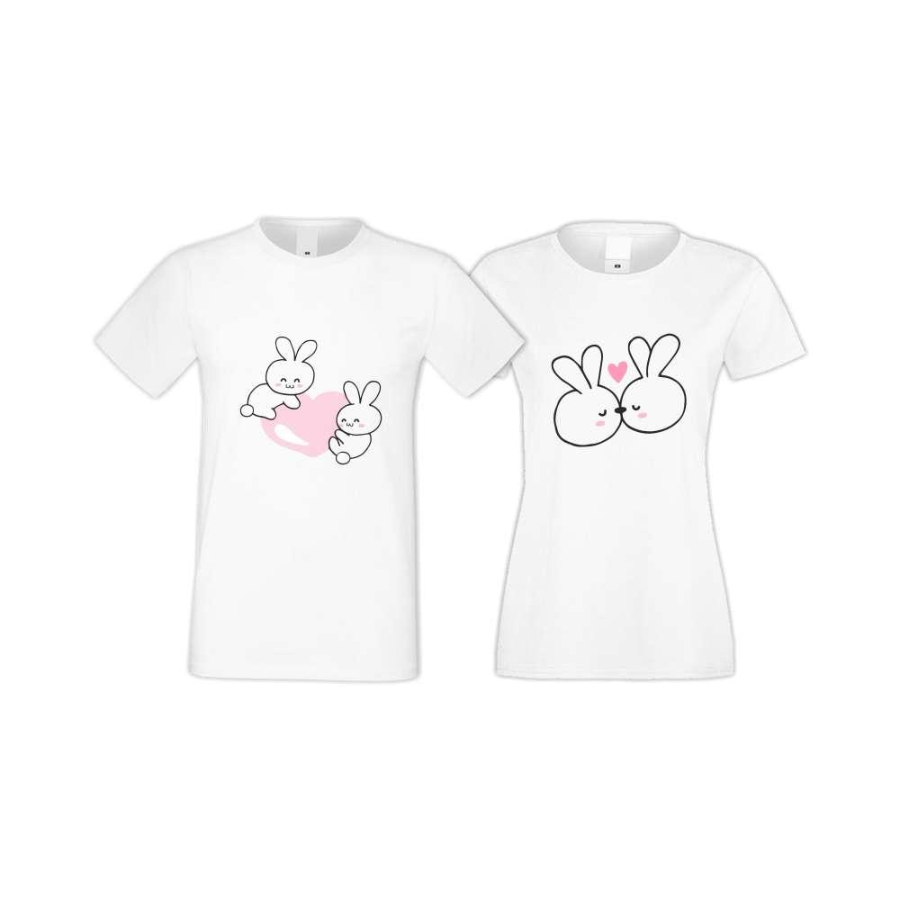 Majice za zaljubljene Bunnies