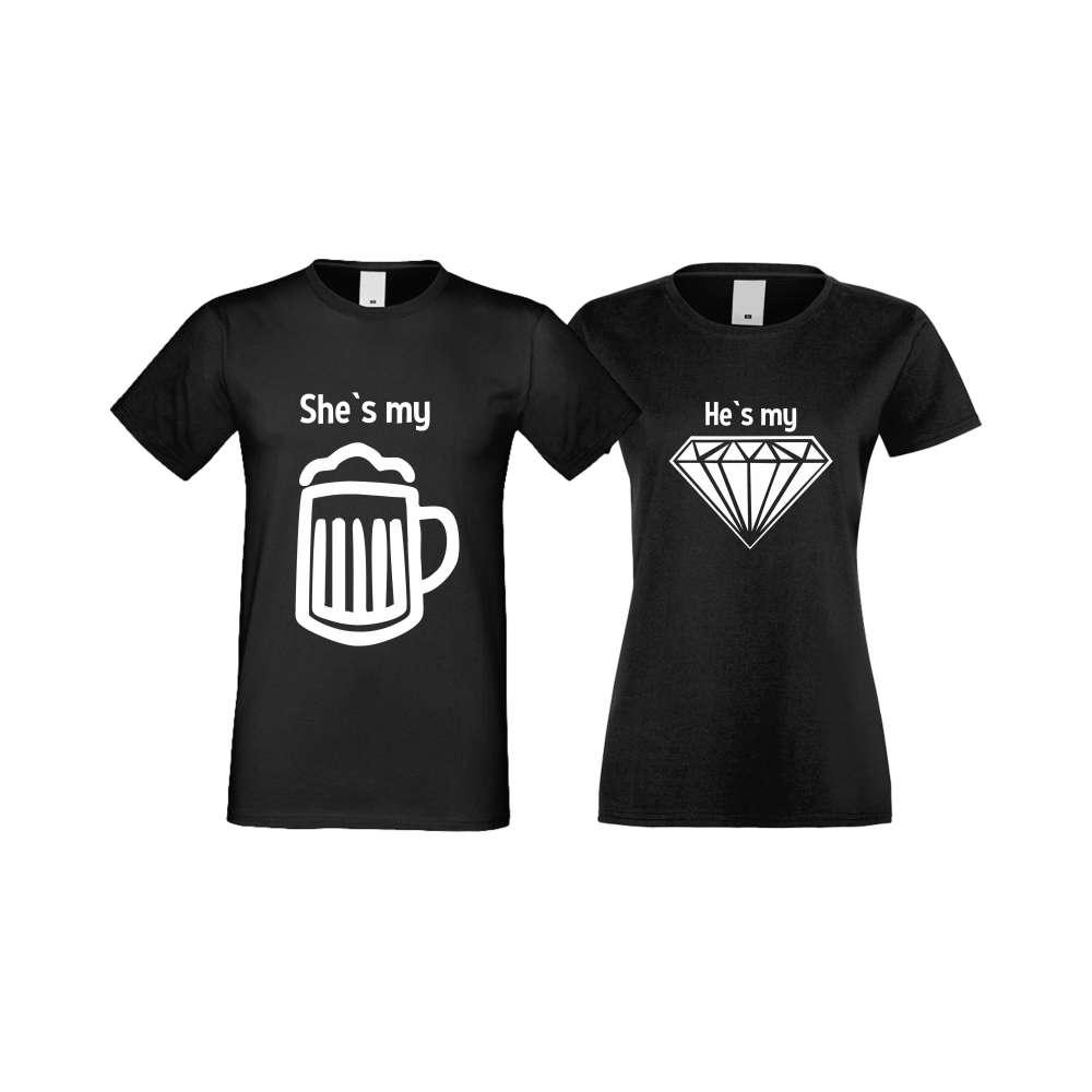 Majice za zaljubljene SHE IS MY BEER