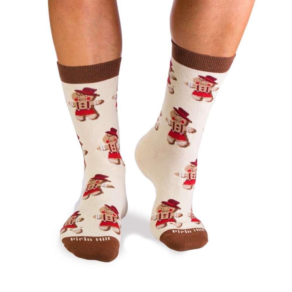 Božićne čarape od češljanog pamuka Christmas Boy and Christmas Tree