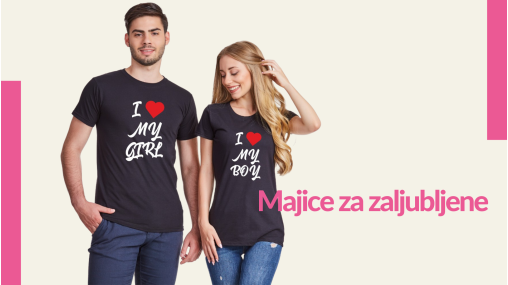 Majice za zaljubljene - TShirt24.com.hr