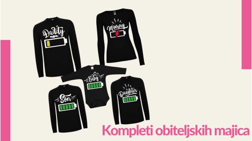 Kompleti obiteljskih majica - TShirt24.com.hr